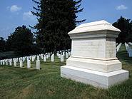 Main Volunteer Infantry Memorial at Culpeper National Cemetery with Headstones