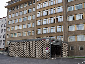 Stasi Museum - The main entrance to the Stasi Museum