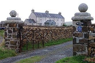 Baltasound - Image: Main gate for Buness, Baltasound geograph.org.uk 969689