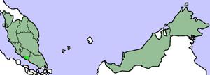 Location of Malacca