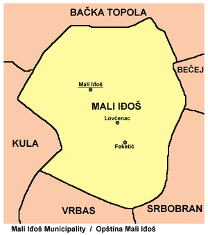 Mali Iđoš - Map of Mali Iđoš municipality