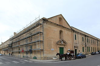 Healthcare in Malta - The Sacra Infermeria was used as a hospital from the 16th to 20th centuries. It is now the Mediterranean Conference Centre.
