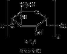 Struktur von Maltodextrin