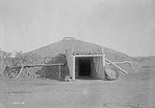 Earthen Lodges With Thatched Roofs Craft