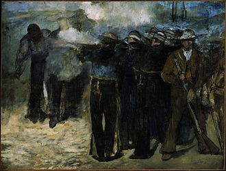 The Execution of Emperor Maximilian - The Execution of Emperor Maximilian (1867), oil on canvas, 195.9 x 259.7 cm. Museum of Fine Arts, Boston