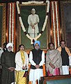 Manmohan Singh, the Speaker, Lok Sabha, Smt. Meira Kumar, the Minister of State (Independent Charge) for Women and Child Development, Smt. Krishna Tirath and other dignitaries paid tributes to the former Prime Minister.jpg