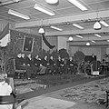 Mannen in jacquets zittend op een podium, 4e en 5e van links respectievelijk Jan, Bestanddeelnr 255-8445.jpg