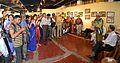 Manoj Mitra - Addressing - Opening Ceremony - Atanu Ghosh Solo Exhibition - Kolkata 2013-12-05 4678-4681.JPG