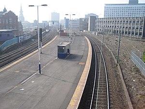 Manors railway station - Manors railway station in 2012