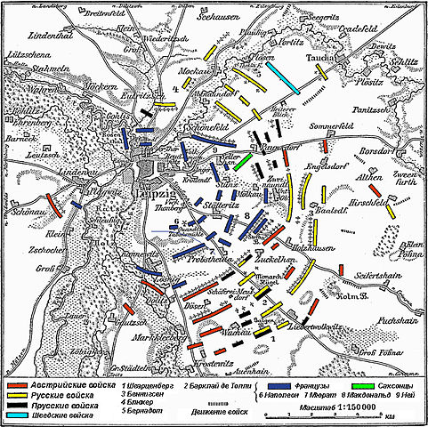 FileMap Leipzig 18 Oktober 1813 rus colorjpg Wikimedia Commons