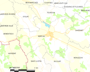 Marciac - Marciac and its surrounding communes