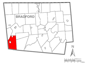 Canton Township, Bradford County, Pennsylvania - Image: Map of Canton Township, Bradford County, Pennsylvania Highlighted