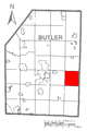 Map of Clearfield Township, Butler County, Pennsylvania Highlighted.png