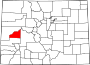 Map of Colorado highlighting Delta County.svg