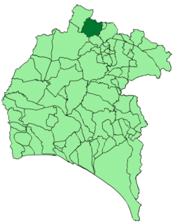 Location of Cumbres de San Bartolomé