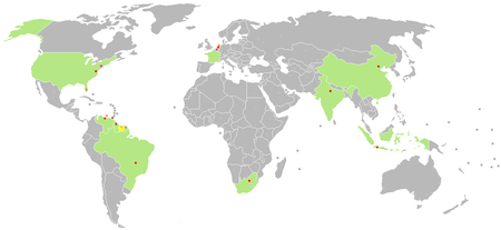 Map of Diplomatic missions of Suriname.PNG