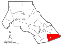 Map of Greene Township, Clinton County, Pennsylvania Highlighted.png