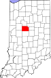 Map of Indiana highlighting Clinton County.svg