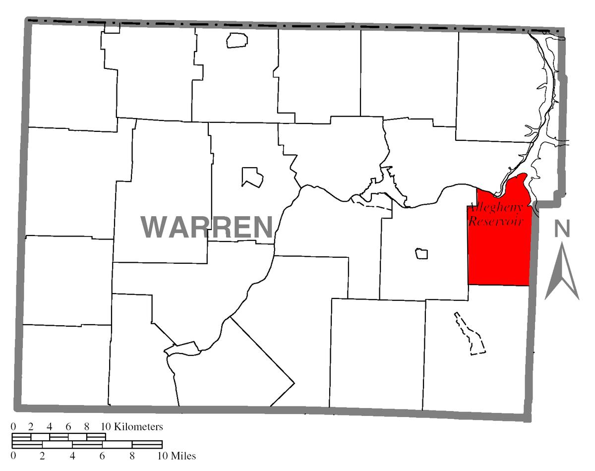 Px Map Of Kinzua Township C Warren County C Pennsylvania Highlighted