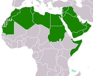 2013 Arab League summit - Map of League of Arab countries