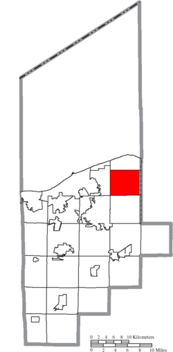 Location of Avon in Lorain County