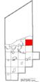Map of Lorain County Ohio Highlighting Avon City.png