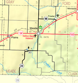 KDOT map of Meade County (legend)