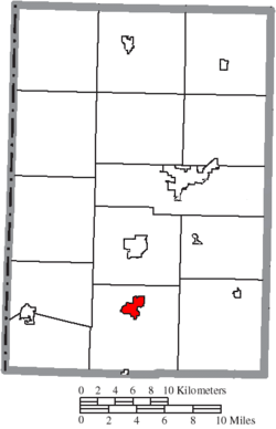 Location of St. Henry in Mercer County