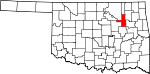 State map highlighting Tulsa County