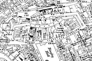 The Crescent (Birmingham) - 1904–1905 Ordnance Survey map showing The Crescent