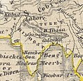 Map of Tibet (Tubet) and Lhasa (HLassa) in 1840 from Oestliche Halbkugel (cropped).jpg