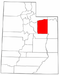 Map of Utah highlighting Duchesne County.png