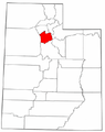 Map of Utah highlighting Salt Lake County.png