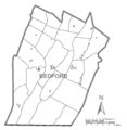 Map of Woodbury, Bedford County, Pennsylvania Highlighted.png