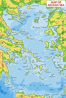 The part of the Aegean Sea to the south of Chios, to the east of the Eastern Cyclades and west of Anatolia