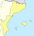 Mapa Segunda División B Grupo III 2013-14.png
