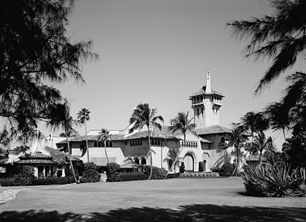 Mar-a-Lago, Marjorie Merriweather Post's estate on Palm Beach Island MaralagoLoC.jpg