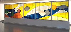 Marcelle Ferron - Marcelle Ferron, Untitled (1972). Stained glass. Montreal Museum of Fine Arts.