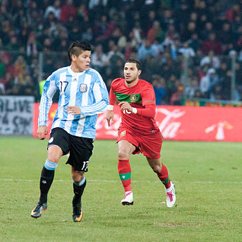 Marcos Rojo %28L%29%2C Ricardo Quaresma %28R%29 %E2%80%93 Portugal vs. Argentina%2C 9th February 2011