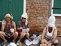 Mardi Gras Day in New Orleans 2008 - Sitting Around Wearing Wigs.jpg