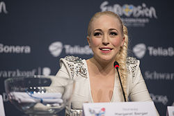 Margaret Berger, ESC2013 press conference 13.jpg