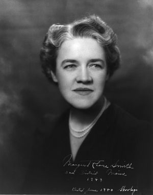 Margaret Chase Smith, member of the U.S. Senat...