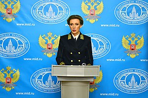 Maria Zakharova - Image: Maria Zakharova, briefing