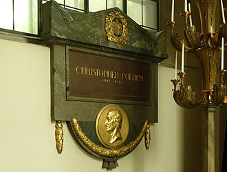 Christopher Polhem - Memorial to Christopher Polhem at Maria Magdalena Church in Stockholm