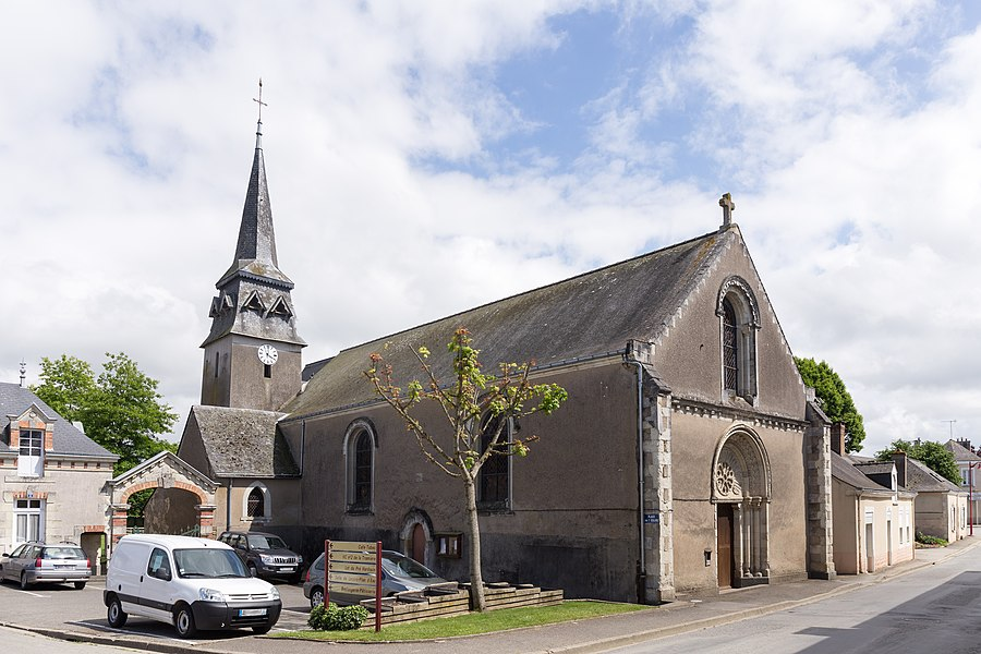 Church of Marigné-Peuton.