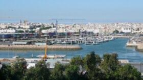 La ville de Salé vue de Rabat