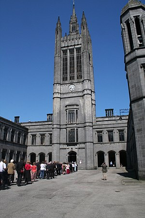 Marischal Museum - The entrance to the Marischal Museum, at the rear part of Marischal College, seen prior to restoration