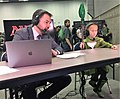 "Marshall Sutcliffe and Dana Fischer ""Magic"" commentating at GP Portland.jpg"