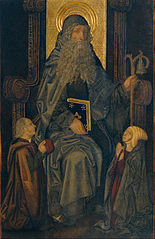 Saint Anthony the Abbot and Donors