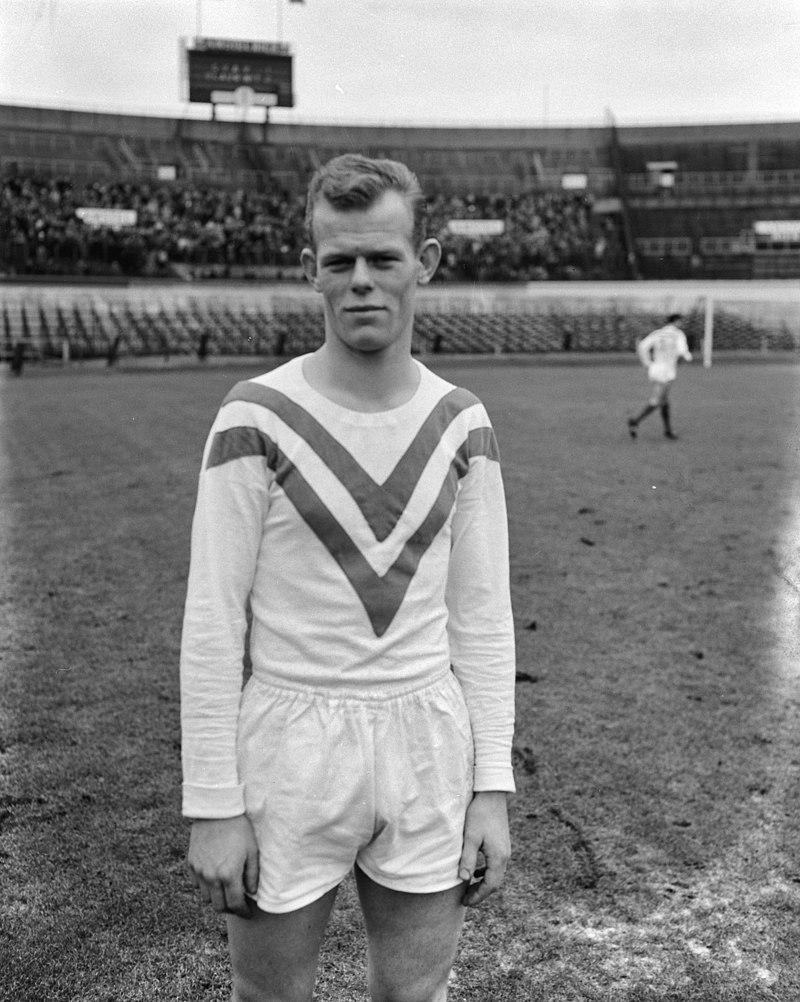 Martin Koeman voor Blauw-Wit, 14 januari 1962